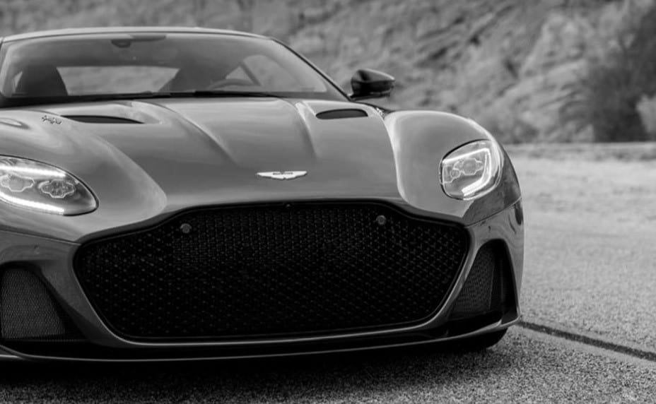 Aston Martin Superleggera Black and White