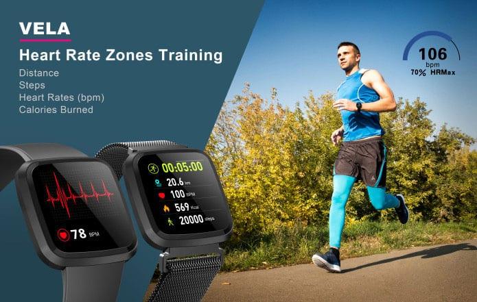 Vela Heart rate Zones - Fat Burning Tools