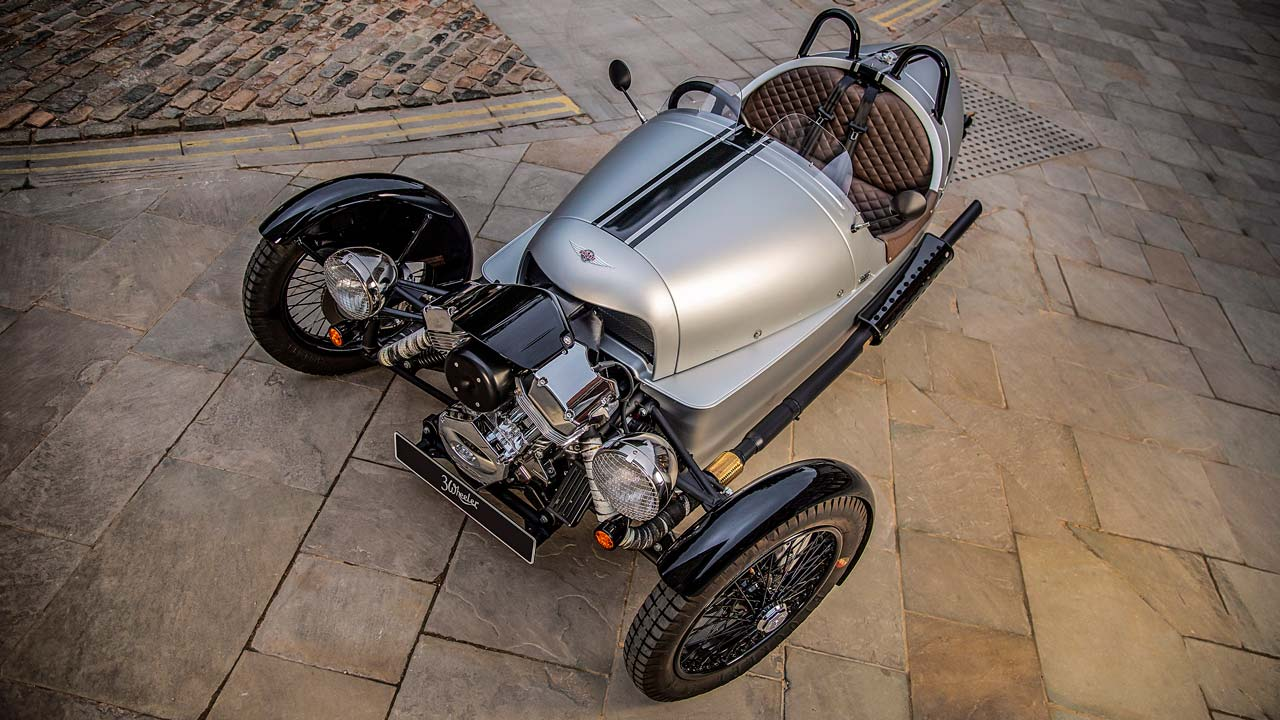 Morgan 3 Wheeler 110 Anniversary Model 2019 Overhead