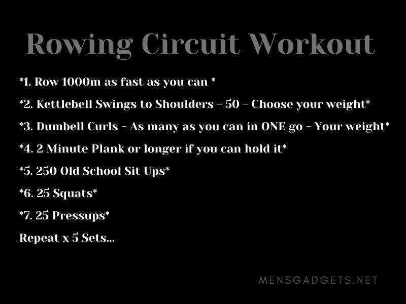 Rowing Circuit Workout