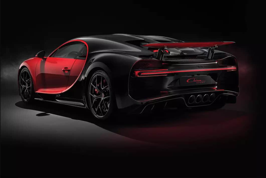 Chiron Sport Bugatti Rear and Side View